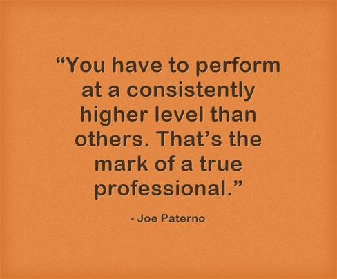 Joe Paterno Quote